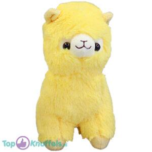 Alpaca Pluche Knuffel Geel 25 cm