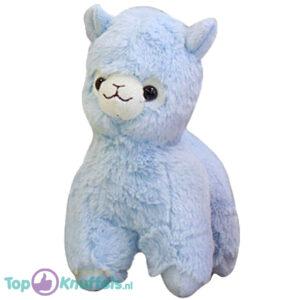 Alpaca Pluche Knuffel Blauw 25 cm