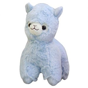 Alpaca pluche knuffel blauw