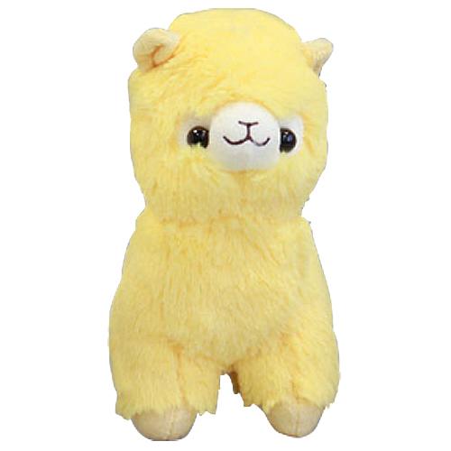 Alpaca pluche knuffel geel
