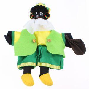 Zwarte Piet - Handpop 25 cm Geel/groen