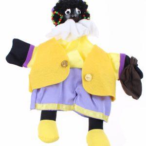 Zwarte Piet - Handpop 25cm Geel/paars