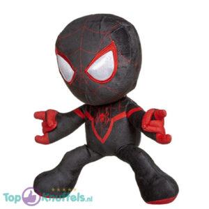 Spiderman Marvel pluche knuffel schietend (zwart) 33 cm