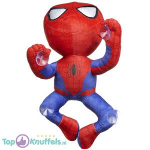 Spiderman Marvel pluche knuffel klimmend met zuignap 30 cm