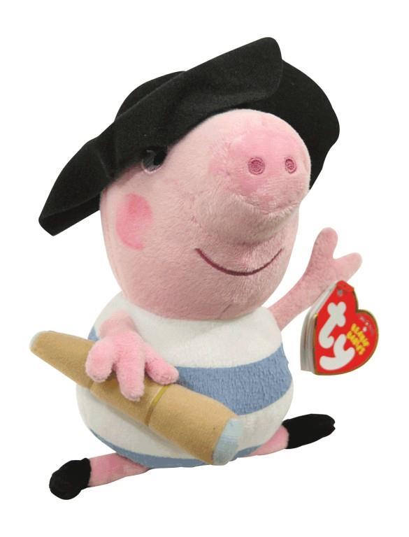 TY Peppa Pig Pluche Piraat George 25 cm