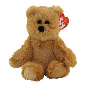 Ty pluche beer met glitter ogen, bruin 20cm