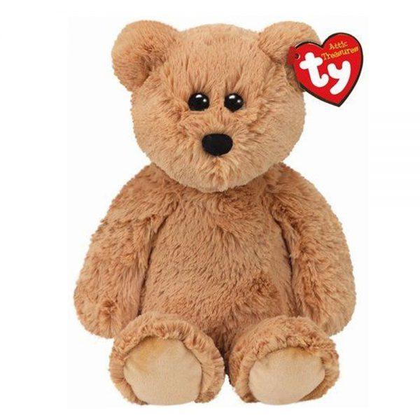 Ty pluche beer met glitter ogen, licht bruin 33cm