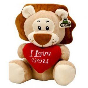 Wildlife pluche Leeuw I Love you 45cm