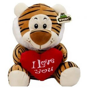 Wildlife pluche Tijger I Love you 45cm