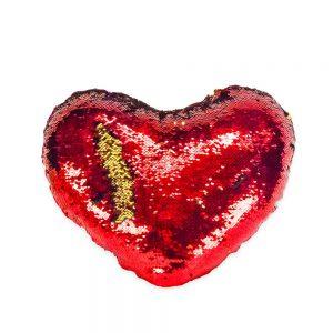 Hart glitter rood 45cm