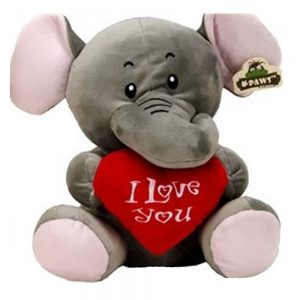 Wildlife pluche Olifant I Love you 45cm