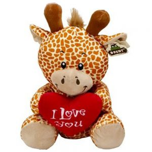 Wildlife pluche Giraf I Love you 45cm
