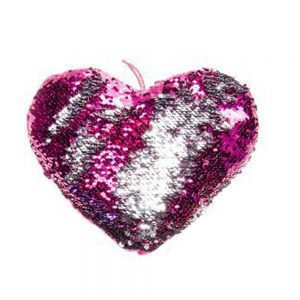 Hart glitter roze 45cm
