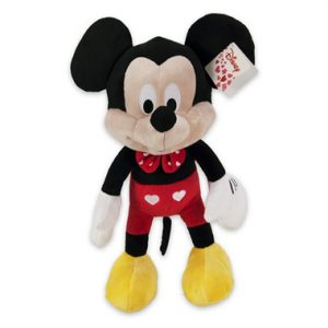 Mickey Mouse Hartjes Disney Pluche knuffel 27 cm