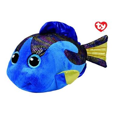 Pluche Vis Blauw met Glitter Ogen Aqua 42 cm