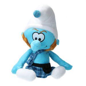 MC Smurf in Schots Tenue pluche knuffel 38 cm