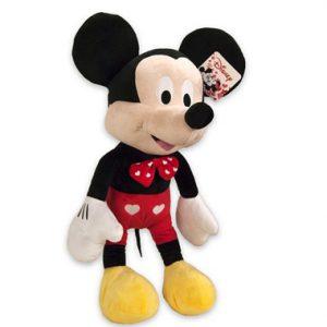 Disney Pluche Mickey Mouse met hartjes 65 cm