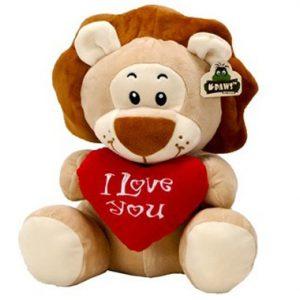 Pluche Wildlife Leeuw I Love You 23 cm