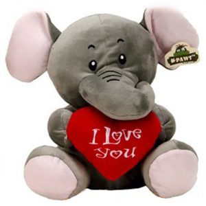 Pluche Wildlife Olifant I Love You 23 cm