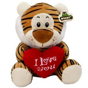 Pluche Wildlife Tijger I Love You 23 cm