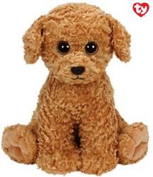 Pluche Hond Luke met Glitter ogen (Bruin) 33 cm