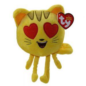 TY Emoji kat met hart oogjes 15cm