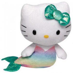 Hello Kitty pluche kat zeemeermin 14cm