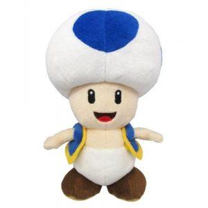Pluche Blue Toad knuffel, Super Mario Bros 20 cm