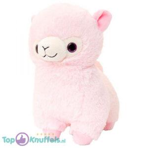 Alpaca pluche knuffel Roze 25 cm