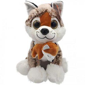 Husky Knuffel Met Baby 25CM