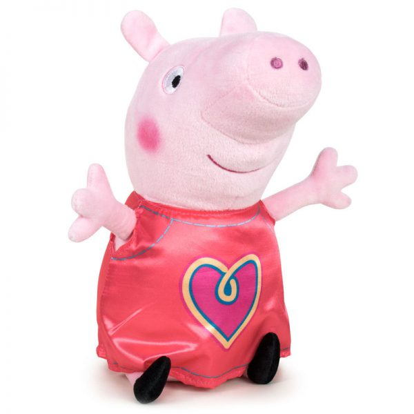 Peppa Pig Hartje Pluche Knuffel 31cm