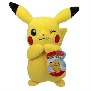 Pokemon Pikachu Knipoog Pluche Knuffel 23cm
