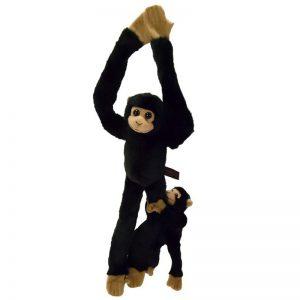 Chimpansee Plushe Met Baby Knuffel 44CM