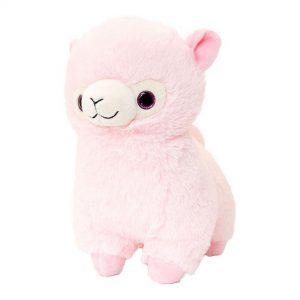Alpaca pluche knuffel Roze 25cm