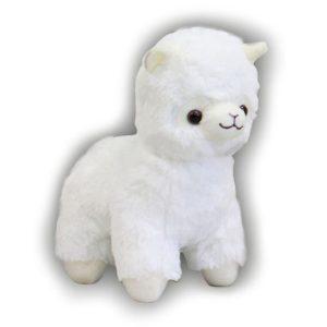 Alpaca pluche knuffel wit 25cm