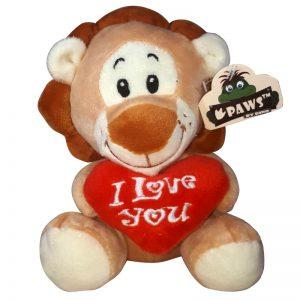 Leeuw met I Love You Hart Knuffel 15 cm