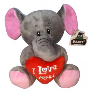 Olifant met I Love You Hart Knuffel 15 cm