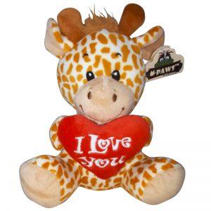 Giraffe met I Love You Hart Knuffel 15 cm