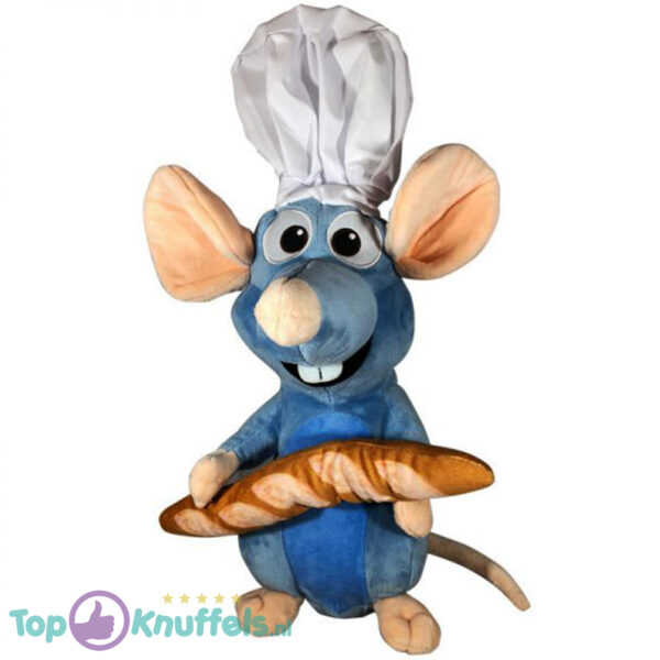 Disney Ratatouille met Stokbrood Pluche Knuffel 25cm