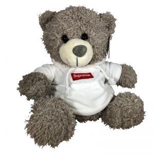 Teddy beer met trui Supreme wit 30cm