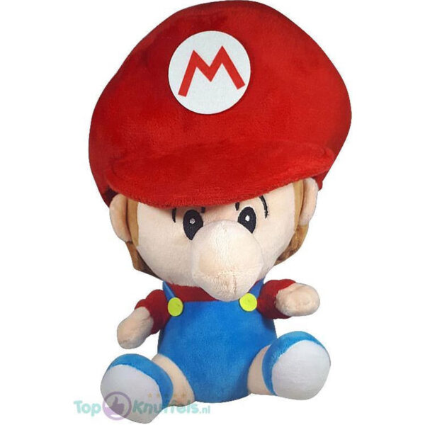 Pluche Mario Bros Baby Knuffel Mario 26 cm