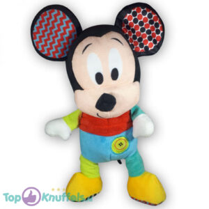 Disney Baby Mickey Mouse Rood/Blauw Pluche Knuffel 30 cm
