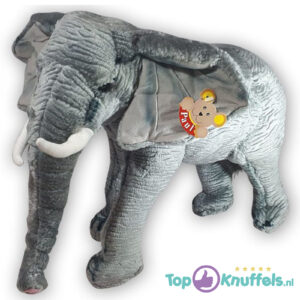 Pluche Realistische Olifant Grijs Knuffel 30 cm