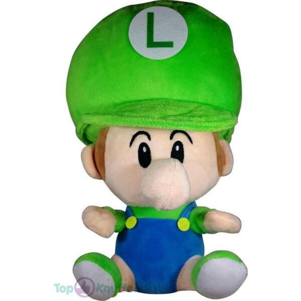 Pluche Mario Bros Baby Knuffel Luigi 26 cm