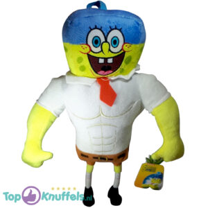 Pluche The Spongebob Squarepants Movie - Spongebob Squarepants Bodybuilder Knuffel 35cm