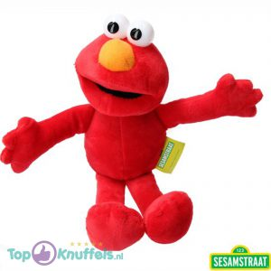 Elmo pluche knuffel 23,5 cm Sesamstraat – Elmo | Cookiemonster / Koekie monster