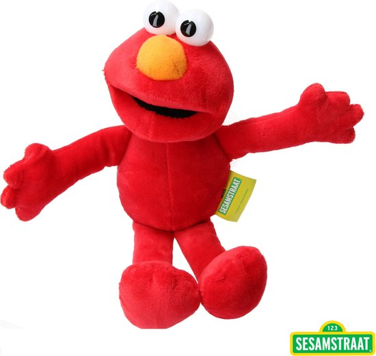 Elmo pluche knuffel 22 cm Sesamstraat – Elmo | Cookiemonster / Koekie monster