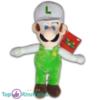 Pluche Mario Bros Knuffel Luigi Wit