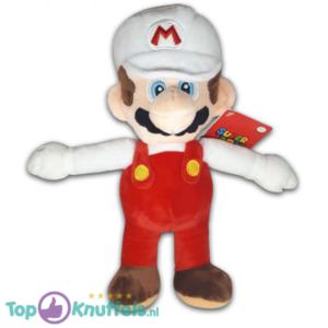 Pluche Mario Bros Knuffel Mario Wit