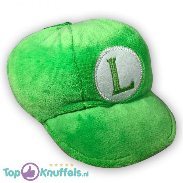 Pluche Mario Bros Luigi Hoedje